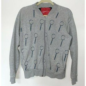 Apex Magnifying glass Spy Glass Gray Zip Sweater